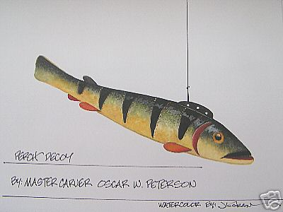 252056442614 together with 130182245454151420 additionally 8 Fish Spearing Decoy By Oscar Peterson Of Cadil 74Aa C 7bd4185ba5 further Carved Duck Decoy likewise Good Group Of Eight Assorted American Decoys Incl 2224 C B264aa2803. on oscar peterson decoys